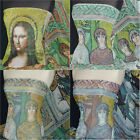 Printed Chiffon Soft Touch Sheer Fabric Material Cathedral Mona Lisa Prints