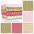 FINEST FLORAL BABYCORD 100% COTTON FABRIC needlecord corduroy pink green girls