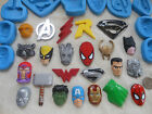 1x Sugarcraft/Fimo MOULD: SUPER HERO Inspired Logos & Faces - DC Marvel Avengers