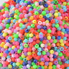 "Gift Wholesale Mixed Acrylic Spacer Pony Beads 3mm(1/8"") Dia."
