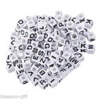 Gift Wholesale Mixed Alphabet /Letter Acrylic Cube Beads 7x7mm