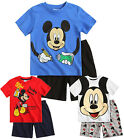 Boys Mickey Mouse Pyjamas Kids Disney Pjs T Shirt Short Set New 3 4 6 8 Years