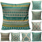 Retro Geometric Cotton Linen Throw Pillow Case Cushion Cover Home Bed Sofa Decor