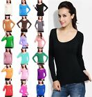 Modal Cotton Ladies Muslim Tight T Shirt Islamic Women's Long Sleeve Tops Blouse