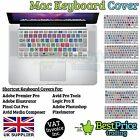"Shortcuts Silicone Covers For Apple Mac Keyboard 13"" 15"" 17"" For Photoshop ETC"