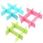 Home Storage Plastic Drawer Closet Grid Divider Tidy Organizer Container 4pcs