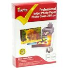 INKRITE PROFESSIONAL GLOSSY 6X4 PHOTO PAPER - 260GSM - CHOOSE QUANTITY