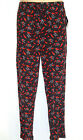 NEW Black Satin Lounge Pant Sleepwear Size SMALL 28/30 s Chili Peppers HOT STUFF
