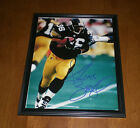 STEELERS JEROME BETTIS FRAMED & SIGNED AUTOGRAPHED 8x10 PRINT