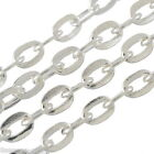 Gift Wholesale Silver Tone Links-Opened Cable Chains Findings 3x2mm