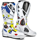 SIDI CROSSFIRE 2 SRS YELLOW FLUO WHITE BLUE MOTORCYCLE OFF ROAD MOTO-X MX BOOTS