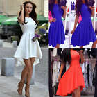 Women Sleeveless Skirt Dress Ladies Evening Party Mini Skater Dress Size 6-14