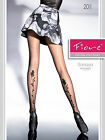 Fiore Sonaya 20 Denier Patterned Tights Rambling Rose Bud & Stem Pattern STW