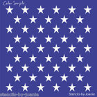 Joanie SQ. STENCIL (50) Stars Flag Proud USA Patriotic Country Americana DIY