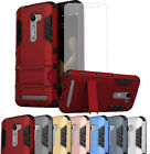 Slim Hybrid Armor Hard ShockProof Case Cover + Tempered Glass Screen Protector