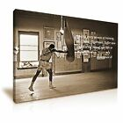 Muhammad Ali in Gym Boxing Canvas Modern Wall Art Print Framed Canvas Sepia