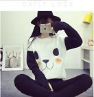 Kawaii Clothing Cute Ropa Sweatshirt Panda White Bear Ears Harajuku Paws Black