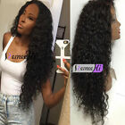100% Brazilian Human Hair Long Spanish Soft Curly Full/Front Lace Wig Baby Hair