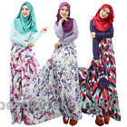 New Women Kaftan Abaya Muslim Long Sleeve Dress Print Maxi Islamic Jilbab Arab