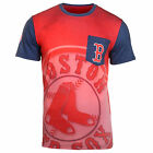 KLEW MLB Men's Boston Red Sox Big Graphics Pocket Logo Tee T-shirt, Red