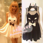 Kawaii Clothing Ropa Dress Vestido Cat Bow Animal Black Cute Harajuku Collar Emo