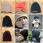 New Toddler Kids Adult Unisex Hat Knit Lined Beanie Warm Winter All sizes