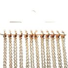 Rose Gold Plated Plain Necklace Lobster Clasp Chains Any Length Quantity Bulk UK