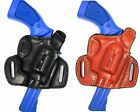Premium Leather Thumb Break Belt Slide Holster ~ Revolvers ~ Choose Gun & Color