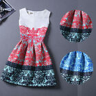 Hot Summer Fashion Lady  Print Beach Casual Sleeveless Woman Girl Dress