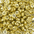Gift Wholesale Mixed Alphabet/Letter Acrylic Spacer Beads 7mm