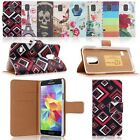 Pattern Printed PU Leather Stand Case Wallet Cover For Samsung Galaxy S5 Mini US