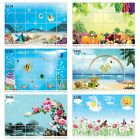 60x90cm Home Decal Oilproof Wall Tile Stove Aluminum Foil Waterproof Stickers