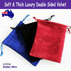 Luxury 100 DOUBLE Sided Velvet Jewellery Gift Pouch Bag-12x16cm | AUSSIE Seller