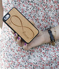 Natural Wood Case. iPhone Case. Samsung Galaxy Case. Cherry Wood. Love Infinity
