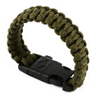 Outdoor Survival Paracord Bracelet 400 Parachute Cord Wristband Emergency Rope
