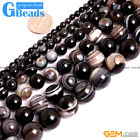 Natural Old Tibetan Stripe Agate Round Dzi Beads For Jewellery Making 4mm 6mm