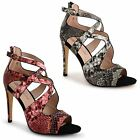 New Womens Ladies Stiletto High Heel Sandals Crossover Strappy Court Shoes Size