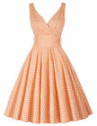 Women Vintage Style 50s Retro Swing Party Prom Cocktail Housewife Pin Up Dresses