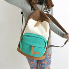 New Girl Student Women Canvas Color Handmade Shoulder Bag Backpack Handbags SOBT