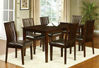 Walnut Dining Table 6 Side Chairs Framed Back Chair 7pc Dining Set Dining Room