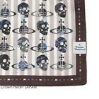 New VIVIENNE WESTWOOD Handkerchief / Mini Scarf Skull Orb Stripe JAPAN BR-border