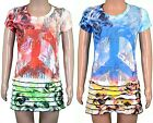 Girls Long Tops / Short Beach Dress Kids Clothes Childrens Summer Wear Ages 3-8y