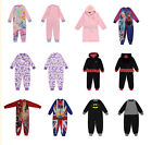 GIRLS WINTER FLEECE SLEEPER PYJAMA ONESIE LICENSED HIGH QUALITY 2 3 4 5 6 7 8