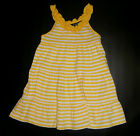 NWT: New Chaps Yellow & White Stripped Summer Dress, 18 mo or 3T, Rtls $32