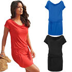 Hot Ladies Womens Short Sleeve Causal Party Dress Short Dress Summer Beach Robes