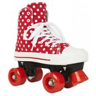 Rookie Toile Junior/Taille Adulte Patins Rollers Quad - Pois Rouges