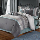 Euphoria Grey Comforter Bed In A Bag Set 8 Piece