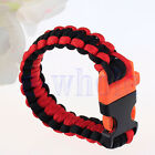 Survival Bracelet Outdoor Paracord Lifesaving Camping Hiking Climb Wristband WS