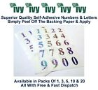 Ivy Self Adhesive Sticky Label Stickers Labels 21mm - 36 Holographic 0-9 Numbers