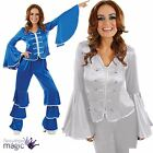 Ladies Womens 70s Disco Diva Abba Dancing Queen Fancy Dress Flare Costume Outfit